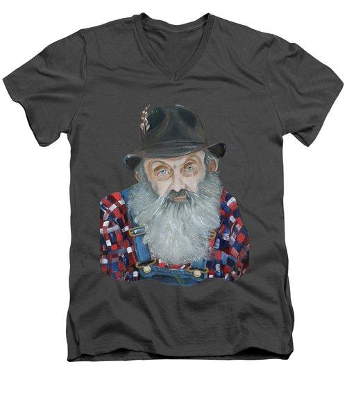 Popcorn Sutton Moonshiner Bust - T-shirt Transparent Men's V-Neck T-Shirt
