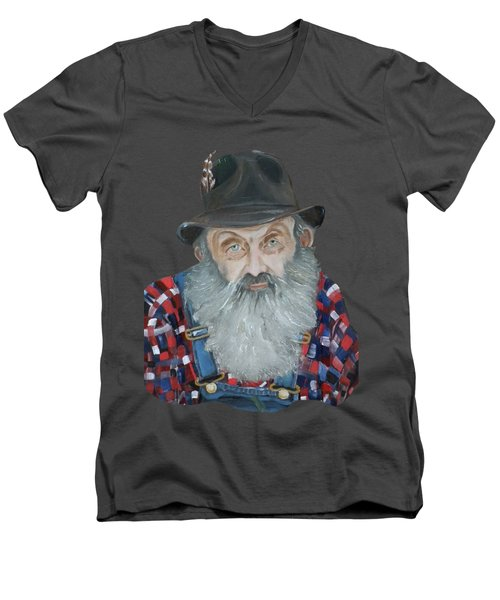 Popcorn Sutton Moonshiner Bust - T-shirt Transparent Men's V-Neck T-Shirt