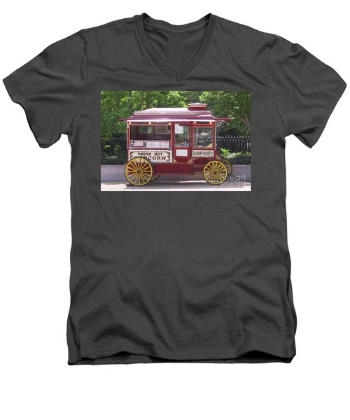 Popcorn Wagon Men's V-Neck T-Shirt