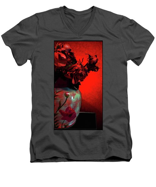 Poppies And Roses Men's V-Neck T-Shirt