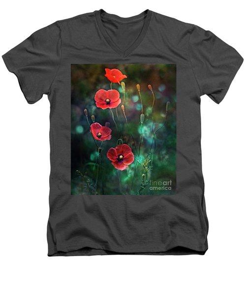 Poppies Fairytale Men's V-Neck T-Shirt