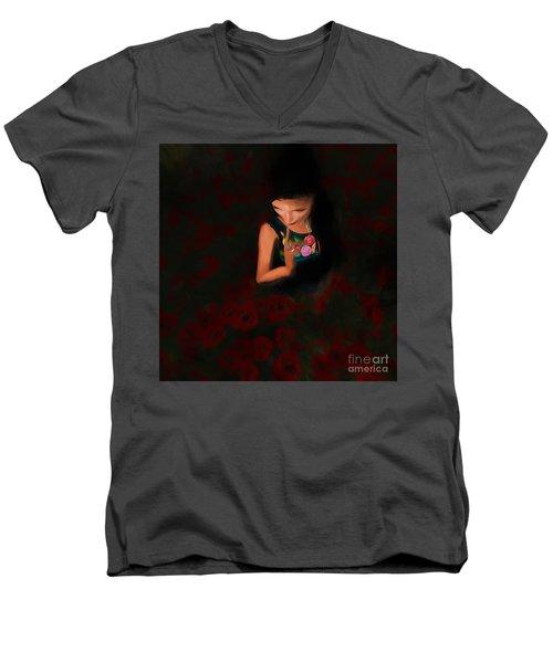 Poppies Men's V-Neck T-Shirt