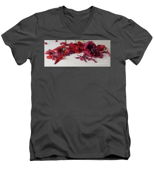 Poppies Petals Men's V-Neck T-Shirt