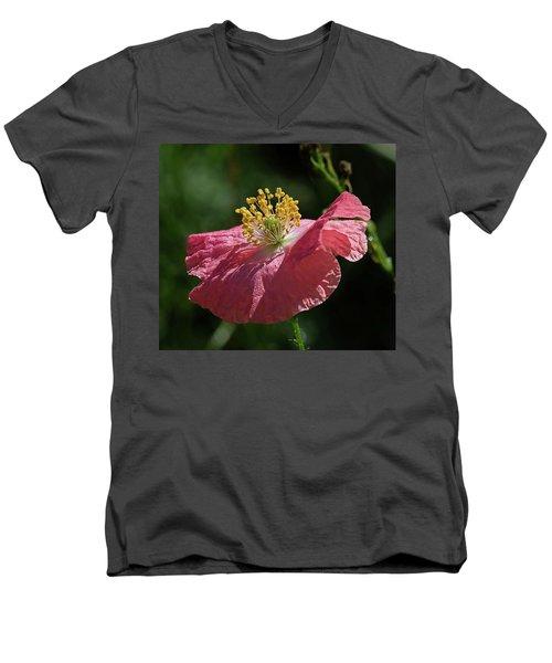 Poppy Close-up Men's V-Neck T-Shirt