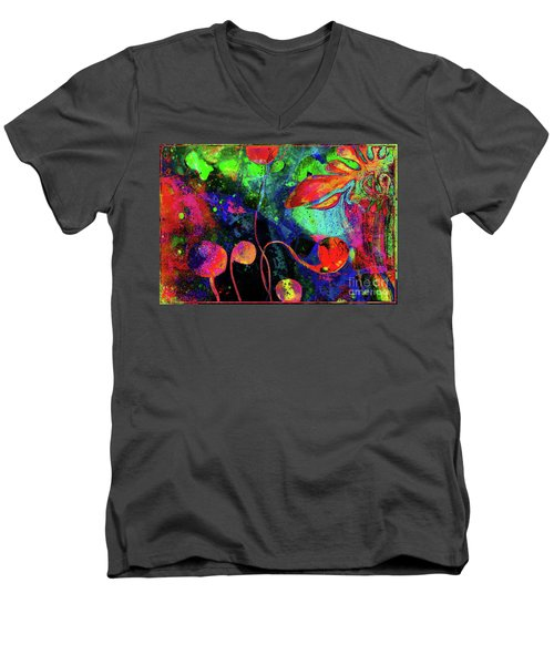 Poppy Enchantment Men's V-Neck T-Shirt
