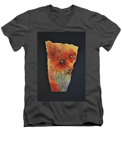 Poppy Impressions Men's V-Neck T-Shirt