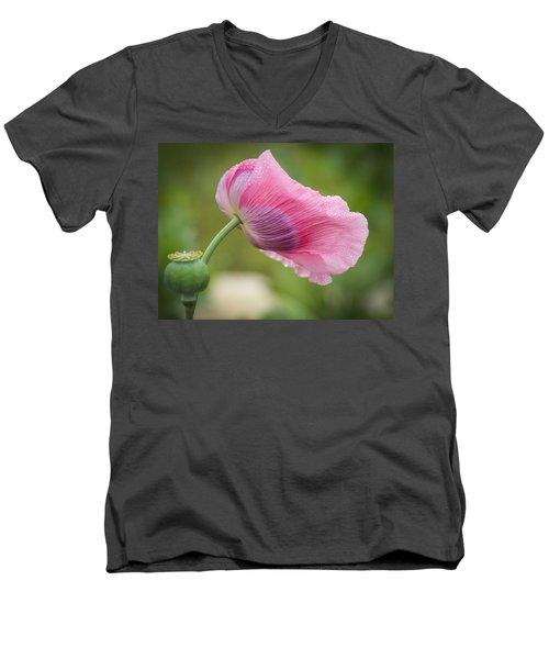 Poppy In The Wind Men's V-Neck T-Shirt