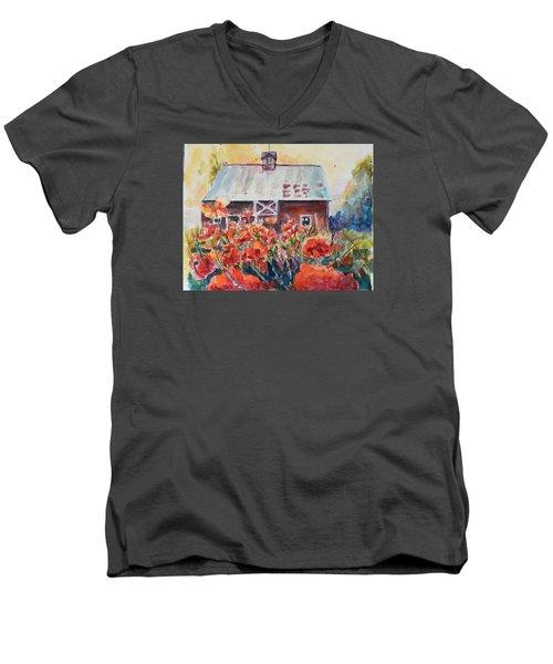 Poppy Morning Men's V-Neck T-Shirt