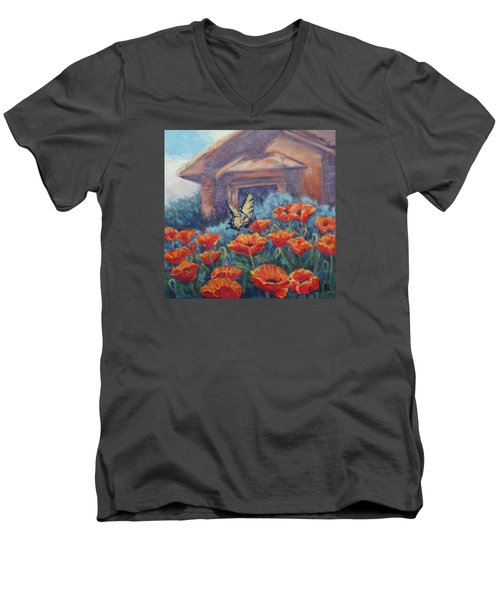 Poppy Paradise Men's V-Neck T-Shirt