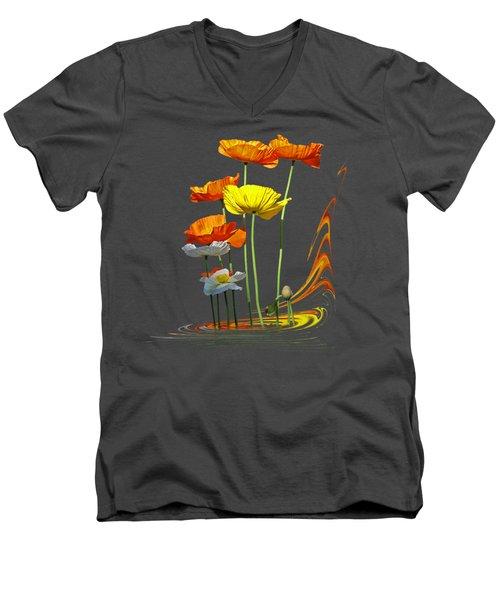 Poppy Pirouette Men's V-Neck T-Shirt