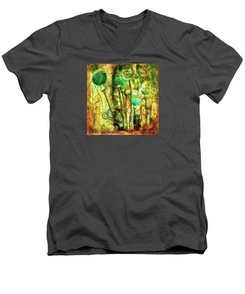 Poppy Pods Men's V-Neck T-Shirt