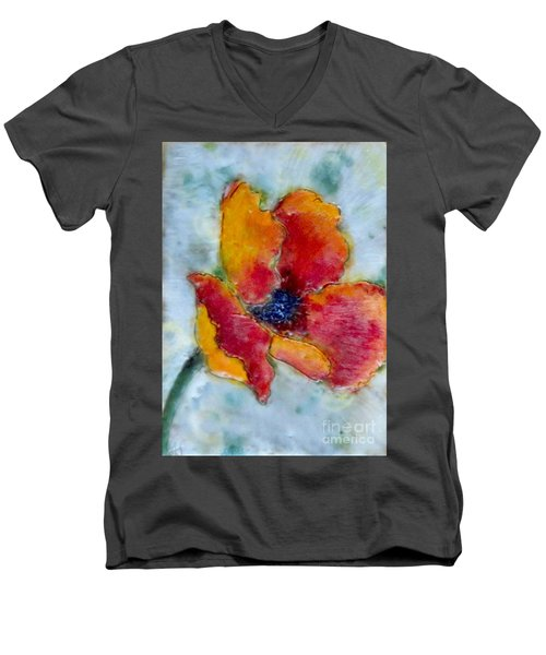 Poppy Smile Men's V-Neck T-Shirt