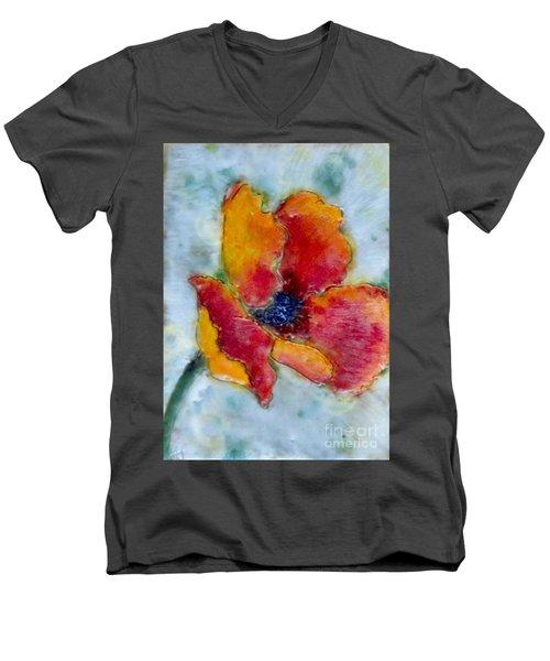 Poppy Smile Men's V-Neck T-Shirt