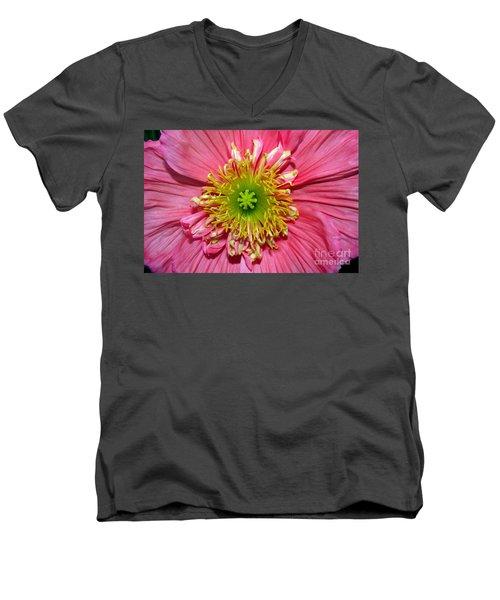 Men's V-Neck T-Shirt featuring the photograph Poppy by Vivian Krug Cotton