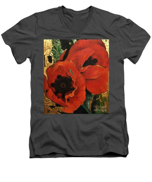 Poppygold Men's V-Neck T-Shirt