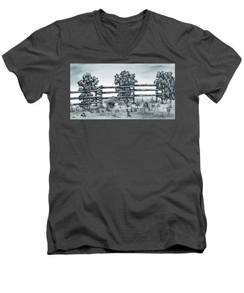 Popular Street Men's V-Neck T-Shirt by Kenneth Clarke