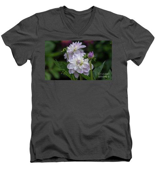 Porcelain Dahlias Men's V-Neck T-Shirt
