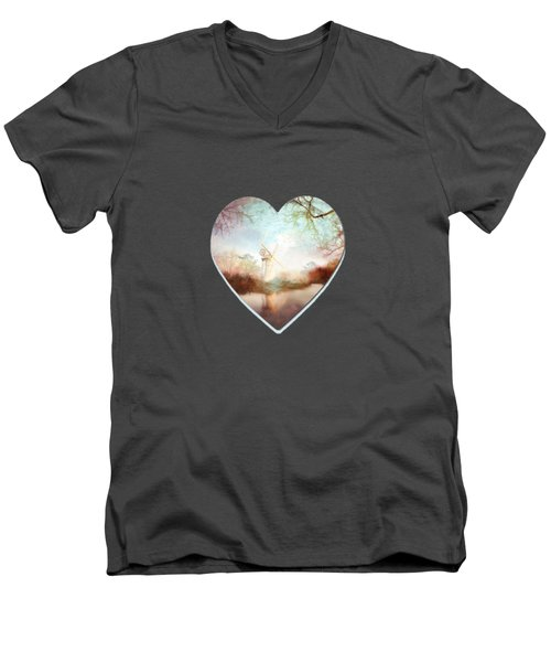 Porcelain Skies Men's V-Neck T-Shirt