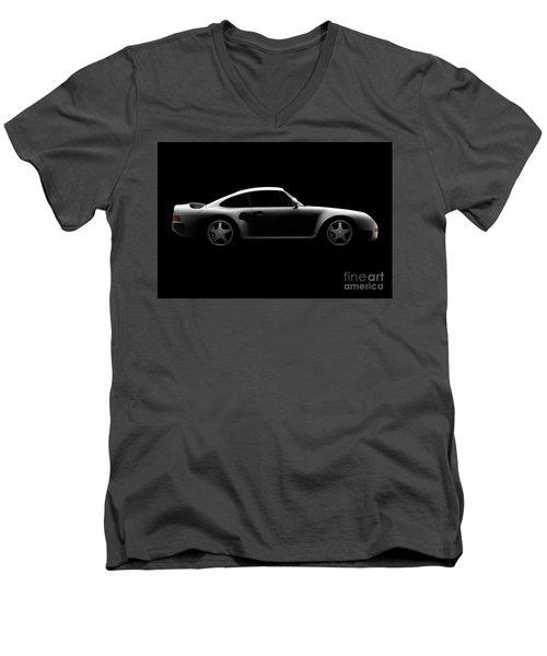 Porsche 959 - Side View Men's V-Neck T-Shirt