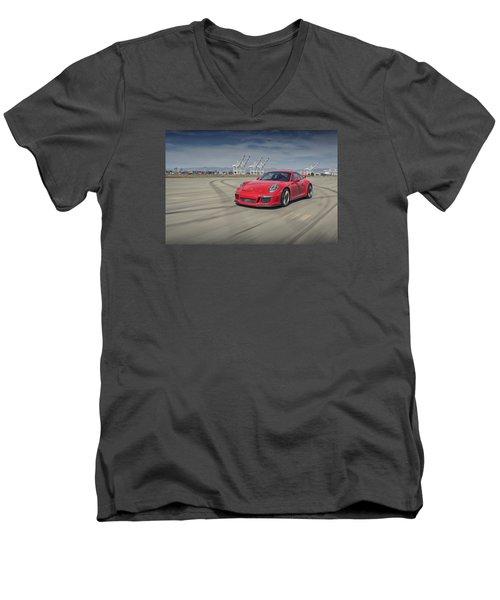 Porsche 991 Gt3 Men's V-Neck T-Shirt
