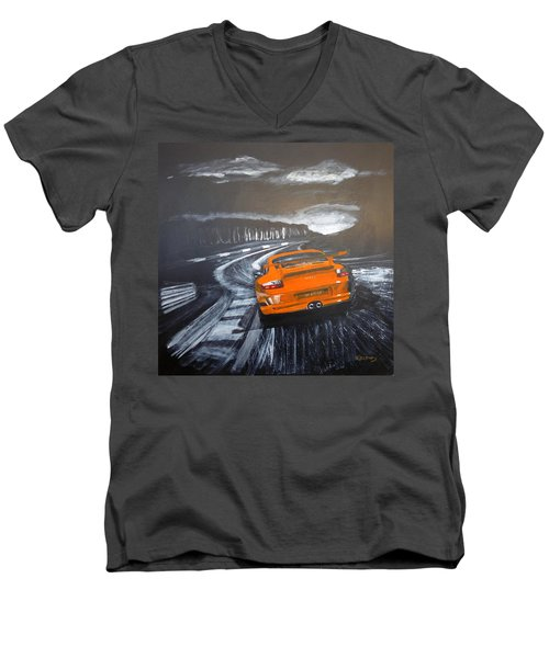 Porsche Gt3 @ Le Mans #3 Men's V-Neck T-Shirt