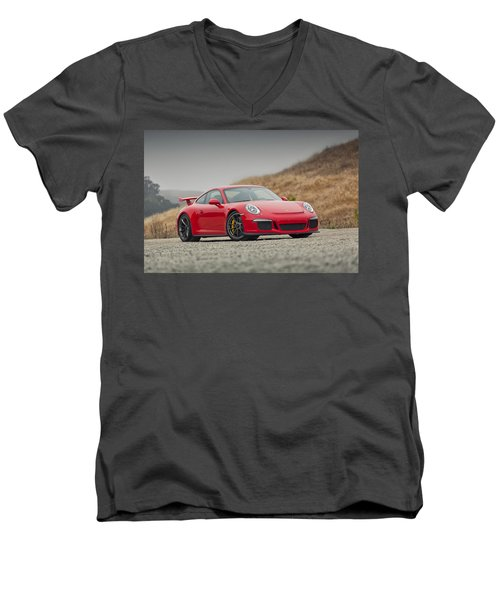 Porsche 991 Gt3 Men's V-Neck T-Shirt