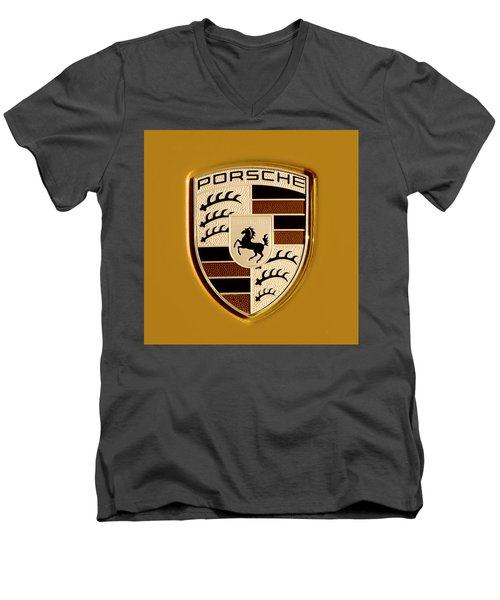 Porsche Oil Paint Filter 121615 Men's V-Neck T-Shirt