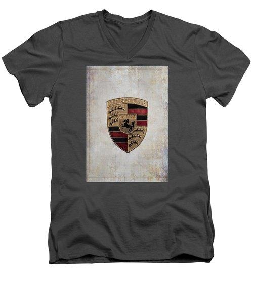 Porsche Shield Men's V-Neck T-Shirt