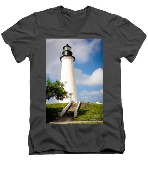 Port Isabel Lighthouse Men's V-Neck T-Shirt