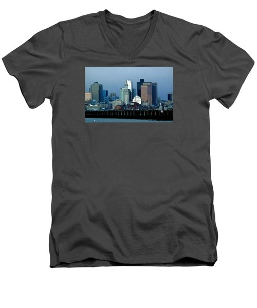 Port Of Boston Men's V-Neck T-Shirt