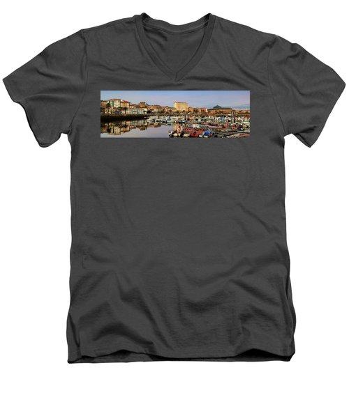 Port Of Ferrol Galicia Spain Men's V-Neck T-Shirt