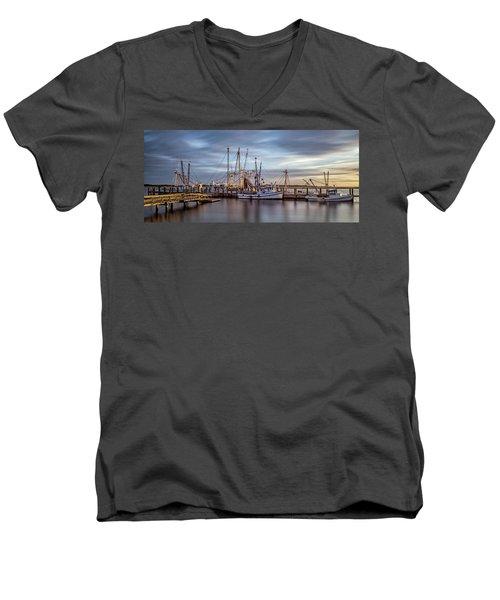 Port Royal Shrimp Boats Men's V-Neck T-Shirt