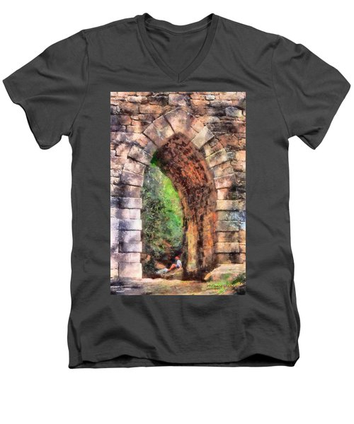 Portal Into Summertime Men's V-Neck T-Shirt