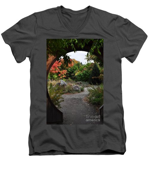 Portal To Paradise Men's V-Neck T-Shirt