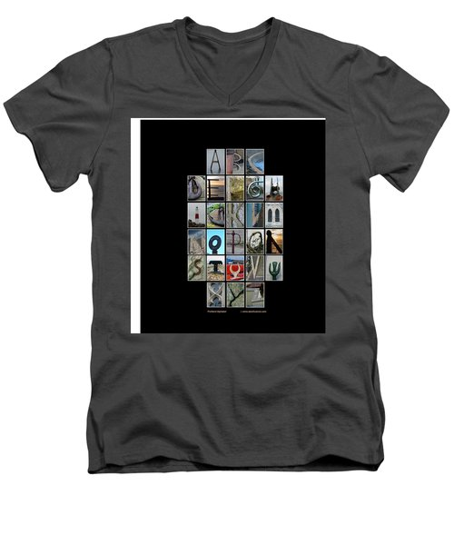 Portland Alphabet Men's V-Neck T-Shirt
