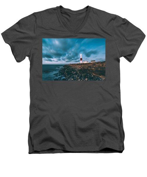 Portland Bill Dorset Men's V-Neck T-Shirt