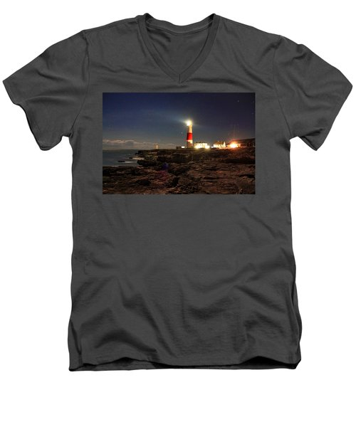 Portland Bill Lighthouse Men's V-Neck T-Shirt