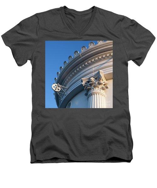 Portland Breakwater Light  -58750 Men's V-Neck T-Shirt by John Bald