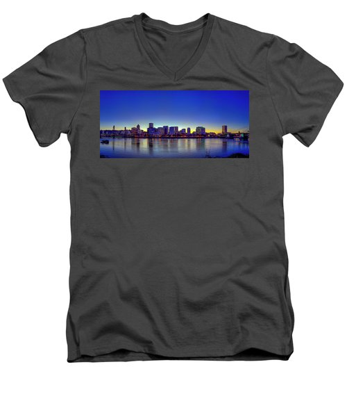 Portland Cityscape Men's V-Neck T-Shirt