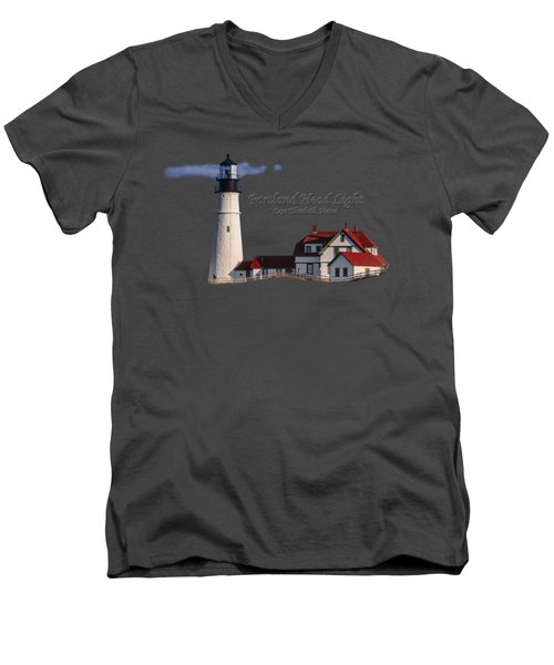 Portland Head Light No. 43 Men's V-Neck T-Shirt