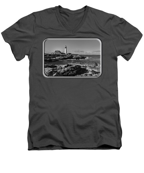 Portland Head Light No.34 Men's V-Neck T-Shirt