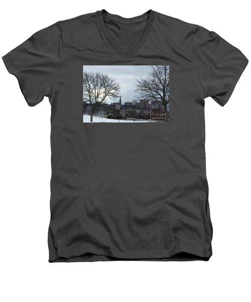 Portland, Maine, My City By The Bay Men's V-Neck T-Shirt by Patricia E Sundik