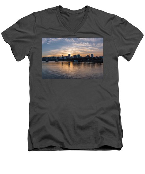 Portland Sunset Men's V-Neck T-Shirt