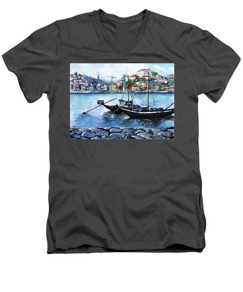 Porto Rabelo Boats Men's V-Neck T-Shirt