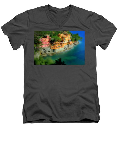 Portofino Park Bay Men's V-Neck T-Shirt