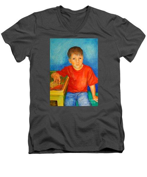 Portrait Andres Men's V-Neck T-Shirt