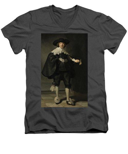 Portrait De Marten Soolmans, 1634 Men's V-Neck T-Shirt