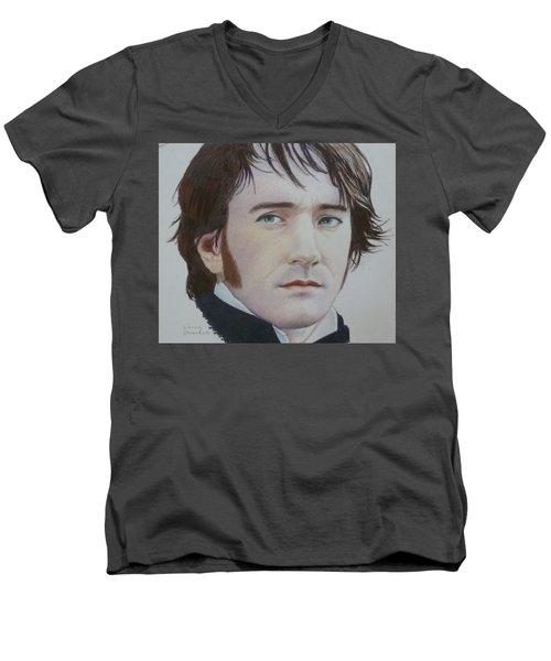 Portrait Of A Gentleman Men's V-Neck T-Shirt by Constance DRESCHER