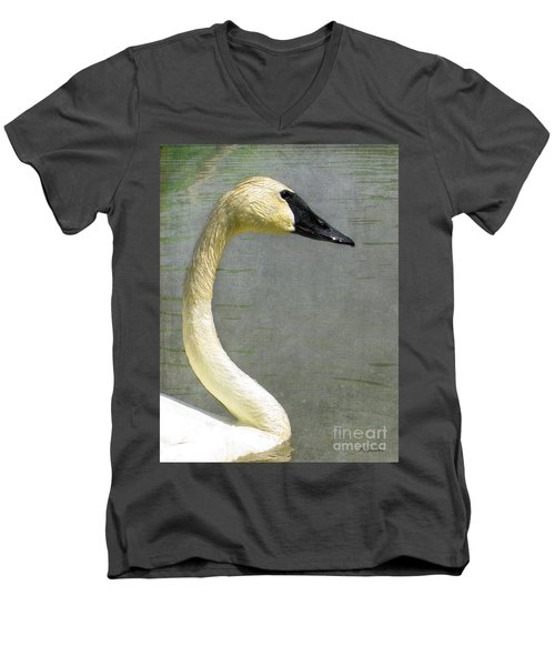 Portrait Of A Pond Swan Men's V-Neck T-Shirt