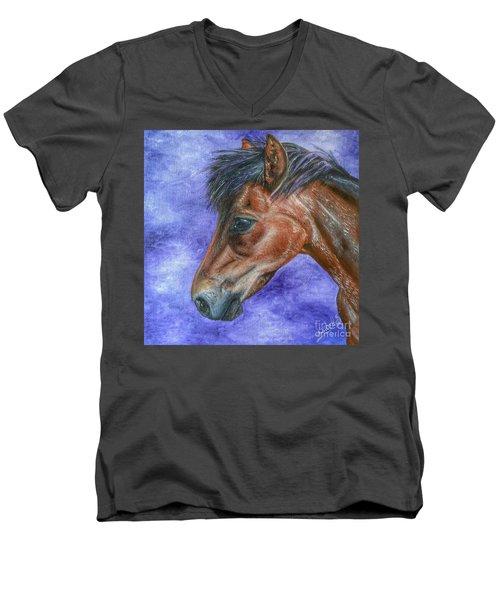 Portrait Of A Pony Men's V-Neck T-Shirt